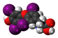 Levothyroxine 3D spacefill.png