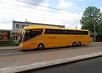 Liberec, Žitavská, autobus Student Agency.jpg