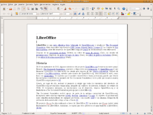 LibreOffice Writer 3.3 screenshot