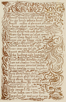 Life of William Blake (1880), Volume 1, Songs of Innocence - Cradle Song.png