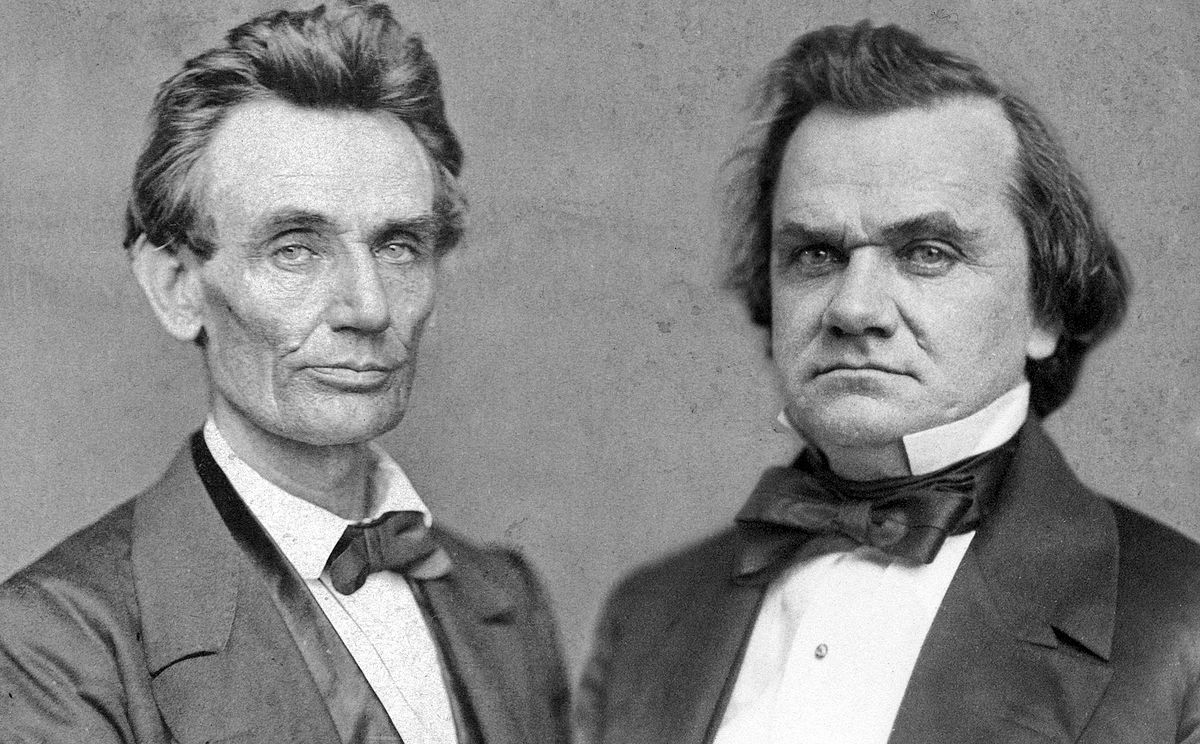 "a comparison between the philosophies of abraham lincoln and stephen douglass Abraham lincoln and the slavery question the policy difference between lincoln and douglass's ""oration in memory of abraham lincolnto assess lincoln."
