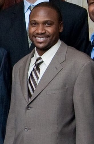 Lindsey Hunter - Hunter visits the White House in 2009 before the Chicago Bulls' game against the Washington Wizards.