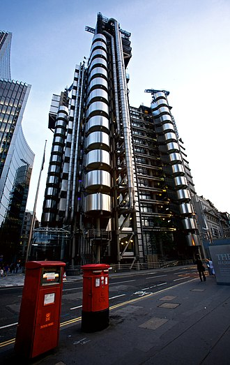 Lend Lease Project Management & Construction - The Lloyd's Building in London, which was completed in 1986.