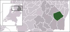 Odoornerveen - Image: Locatie Borger Odoorn