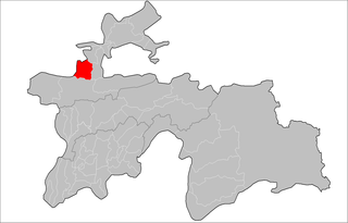 Location of Shahriston District in Tajikistan