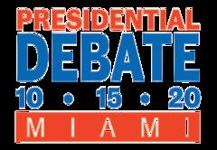 Logotipo para el debate presidencial del 15 de octubre de 2020 en Miami (transparente) .png