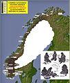 Lokaliteter og funnplasser med eldste datering til mellom- og senmesolittisk tid i Norge.jpg