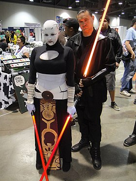 Cosplay d'Asajj Ventress dans la série Star Wars: The Clone Wars.