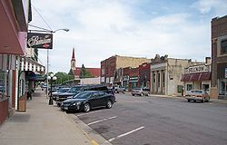 Central Avenue in downtown Long Prairie in 2007