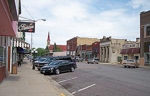 Long Prairie, Minnesota - Central Avenue in downtown Long Prairie in 2007