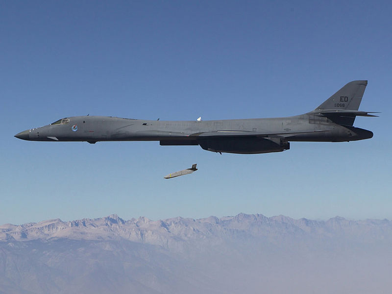 File:Long Range Anti-Ship Missile (LRASM) launches from an Air Force B-1B Lancer.jpg
