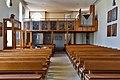 Lonsee Luizhausen Michaelskirche Kirchenschiff mit Empore 2020 03 15.jpg