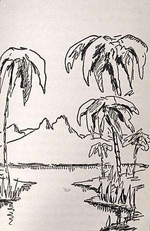 "Hendrik Willem van Loon - ""The Young Nile"", illustration by Hendrik Willem Van Loon for his book Ancient Man, 1922."