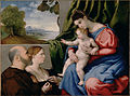 Lorenzo Lotto (Italian (Venetian) - Madonna and Child with Two Donors - Google Art Project.jpg