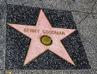 Benny Goodman - Goodman's star on Hollywood Walk of Fame