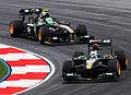 Lotus duo 2010 Malaysia Free Practice 3.jpg