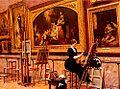 Louis Beroud - peintre copiant un Murillo Au Musee Du Louvre.jpg