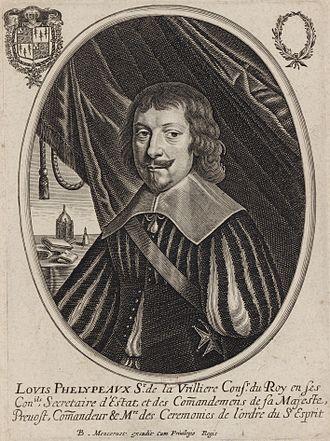 Louis Phélypeaux, seigneur de La Vrillière - Portrait by Balthasar Moncornet