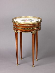 Round Table With Sevres Porcelain Top 1774 91 Metropolitan Museum