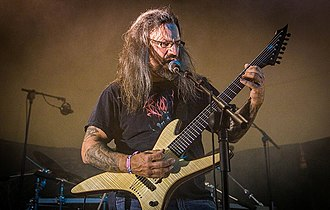 Gorguts - Luc Lemay performing with Gorguts in 2014