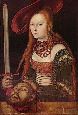Lucas Cranach d.Ä. - Judith mit dem Haupt des Holofernes (Staatsgalerie Stuttgart)