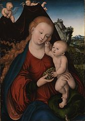 Madonna and Child with Grapes