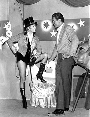 "The Greatest Show on Earth (TV series) - Guest star Lucille Ball and Jack Palance in the episode ""Lady in Limbo"""