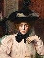 Lucy Lee-Robbins - Portrait de femme au chapeau noir, 1890.jpg