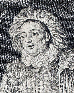 Luigi Riccoboni, detail from L'amour au Théâtre Italien by Watteau, engraved by Nicolas Cochin - Gallica 2013.jpg