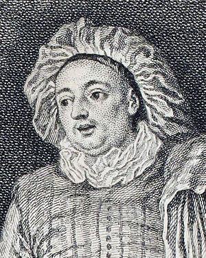 Luigi Riccoboni - Image: Luigi Riccoboni, detail from L'amour au Théâtre Italien by Watteau, engraved by Nicolas Cochin Gallica 2013