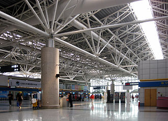 Nanjing Lukou International Airport - Interior of Terminal 1, which is now closed for renovation/Demolition