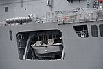 Lunch of JS Shimokita(LST-4002) left rear view at JMSDF Kure Naval Base May 6, 2018.jpg