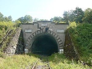 Łupków Pass - Tunnel entrance on the Slovak side