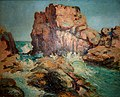 Mário Navarro da Costa (1883-1931) Seascape with rocks and waves, 33 x 41 cm, oil on canvas on cardboard, Photo Gedley Belchior Braga.jpg