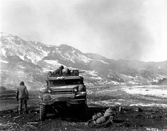 M16 Multiple Gun Motor Carriage - An M16 in March 1951, during the Korean War