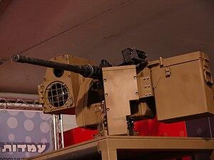 Samson Remote Controlled Weapon Station - 12.7 mm M2 Browning machine gun mounted on Katlanit RCWS