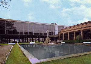 Bilbao Fine Arts Museum - First extension. View of the modern building, year 1971.