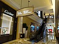 MC 澳門 Macau 路氹城 Cotai 四季名店 Shoppes at Four Seasons mall interior shop Cartier name sign n escalators Nov 2016 DSC.jpg