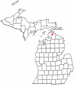 Location of Inverness Township in Michigan