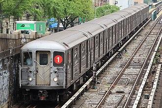 1 (New York City Subway service) - Image: MTA NYC Subway 1 train leaving 125th St