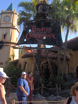 De ingang van Pirates of the Caribbean in het Magic Kingdom