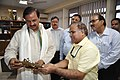 Mahesh Sharma And Anil Shrikrishna Manekar Checking Dhokra Durga - NCSM - Kolkata 2017-07-11 3562.JPG
