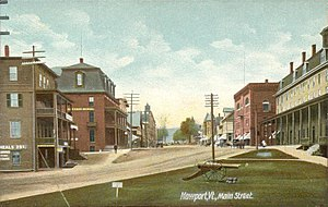 Newport (city), Vermont - Main Street in 1908