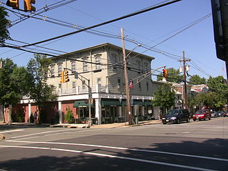 Pennington, New Jersey - Intersection of Main Street and Delaware Avenue