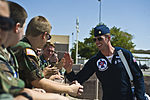 Maj. Jason Curtis interacts with Civil Air Patrol cadets from the Nevada Wing.jpg
