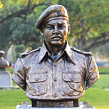 Major R Parameswaran statue at Param Yodha Sthal Delhi.jpg