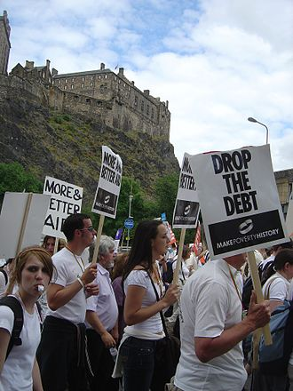 Make Poverty History - An estimated 225,000 (BBC News) campaigners marched in Edinburgh on July 2, 2005