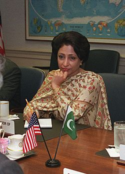 Maleeha Lodhi, Pakistan-US talks 2001.jpg