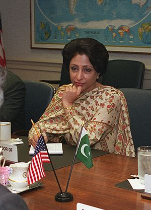 Permanent Representative of Pakistan to the United Nations - Image: Maleeha Lodhi, Pakistan US talks 2001