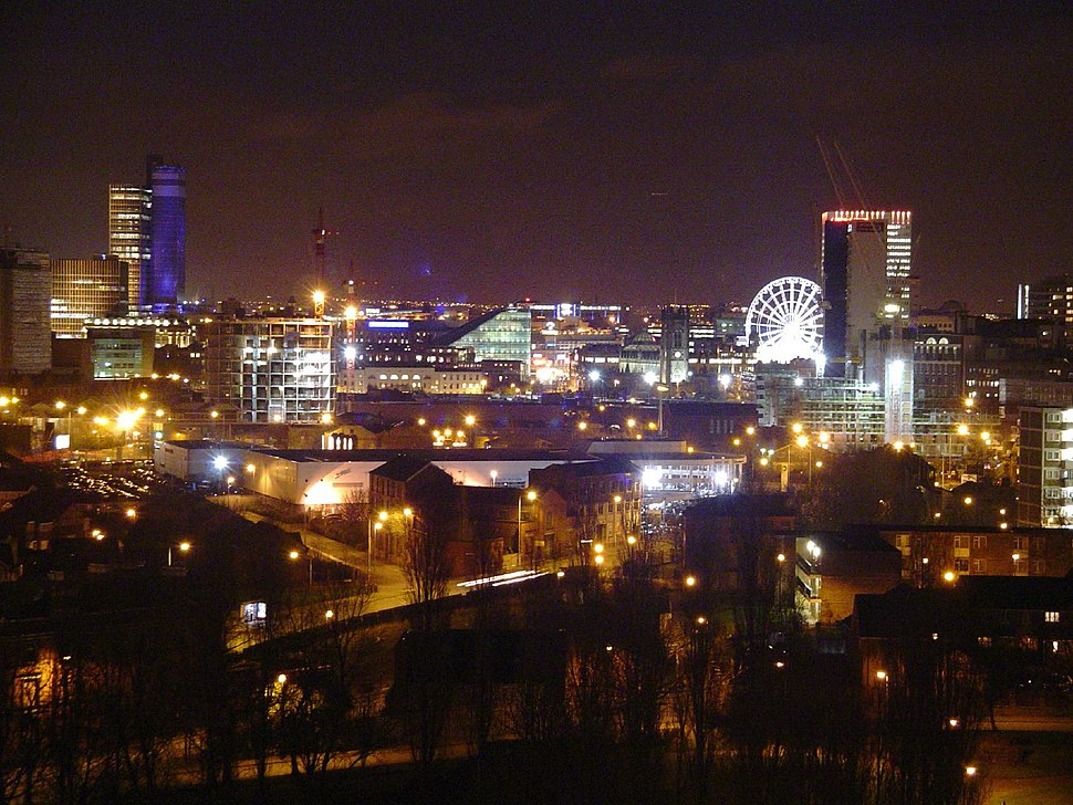 Manchester skyline from tower block